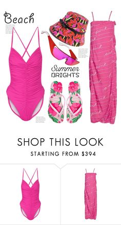 """Summer Brights - Beach Style"" by hattie4palmerstone ❤ liked on Polyvore featuring Norma Kamali, Kate Spade and summerbrights"