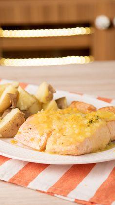 Cheese cake with papaya - Healthy Food Mom Salmon En Salsa, Salmon Recipe Videos, Cooking Time, Cooking Recipes, Healthy Salmon Recipes, Good Food, Yummy Food, Food Videos, Food Inspiration