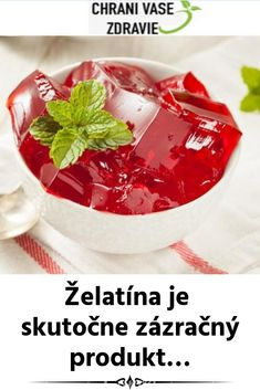 Želatína je skutočne zázračný produkt… Food And Drink, Gardening, Vegetables, Drinks, Health, Drinking, Beverages, Health Care, Lawn And Garden