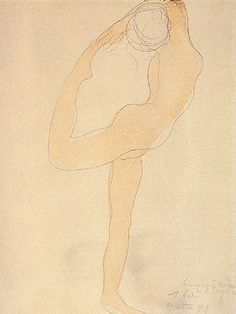 Auguste Rodin, watercolor