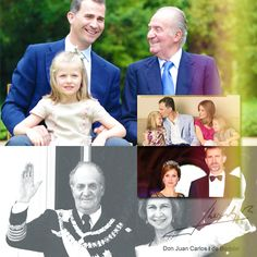 "princessphines:  The Spanish Royal Family-King Juan Carlos, Queen Sofia, Crown Prince Felipe, Crown Princess Letizia, Princess Leonor, Princess Sofia.  King Juan Carlos announced his decision to abdicate, June 2, 2014, saying in a television address that  Prince Felipe is ready for the post and will ""open a new era of hope combining his acquired experience and the drive of a new generation."""