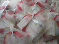 Baby Shower favors (luggage tags) for a family who loves to travel