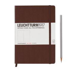 Leuchtturm Notebook A5 Dotted Medium (Chocolate) LEUCHTTURM1917 http://www.amazon.com/dp/B004YDL0X0/ref=cm_sw_r_pi_dp_4OZJwb115HJHE