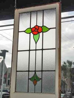 Red Rose & Yellow Bud Antique Stained Glass – Verre et de vitrailes Stained Glass Door, Stained Glass Flowers, Stained Glass Crafts, Stained Glass Designs, Stained Glass Panels, Fused Glass Art, Stained Glass Patterns, Mosaic Glass, Antique Stained Glass Windows