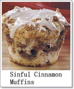 Sinful cinnamon muffins? Yes please!