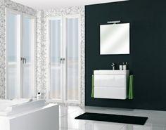 Budget badmeubels : Actieblok Dues 70 cm m. spiegel incl. LED-verlichting | Happybad