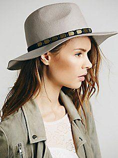 24b78a38884 Embellished Band Brimmed Hat Brim Hat