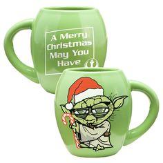 Star Wars Yoda Holiday 18 oz. Oval Ceramic Mug