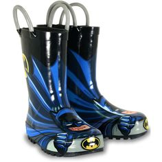 Western Chief Batman Rain Boots  Made with all natural rubber and lined with moisure-wicking cotton lining.