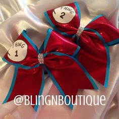 Look at the BLING in the middle of these. Thing 1 Thing 2 Cheer Bow Price Per Bow by BlingNBoutique on Etsy