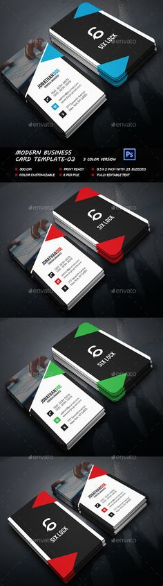 Modern Business Card Template PSD #design Download: http://graphicriver.net/item/modern-business-card-template03/13566073?ref=ksioks