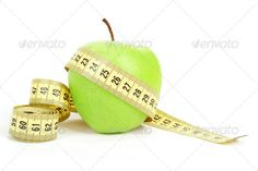 Green apple and measuring tape isolated on white background ... apple, background, beauty, belly, bright, calorie, care, centimeter, concept, control, diet, dieting, eat, eating, energy, exercise, fat, figure, fit, fitness, food, fresh, fruit, green, health, healthy, isolated, juice, lifestyle, line, loose, loss, measure, measurement, meter, number, nutrition, overweight, red, scale, shape, size, slim, slimming, sport, tape, thin, weight, white, yellow