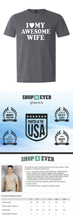 Shop4Ever I Love My Awesome Wife T-shirt Couples Shirts X-Large Dark Heather0
