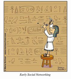 Social Media Humor | Early Social Networking | From Funny Technology - Google+ via Antonline