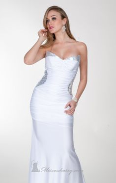 Designer 2014 Sweet Crystal Strapless Floor Length Fitted Gown B [AC1118]