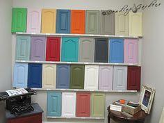 annie sloan paris grey kitchen cabinets distressed | Annie Sloan Chalk Paint and a Lesson