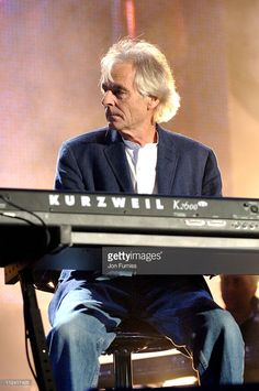 Richard Wright of Pink Floyd during LIVE 8 - London - Show at Hyde Park in London, Great Britain.