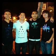 Greater Apparel at night in SD.  Friends for life.  #greaterapparel #edm #edmclothing #urban #urbanapparel #vneck #graphictee #slimfit #turnitup