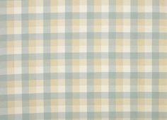 Mitford Check Cotton Fabric Duck Egg
