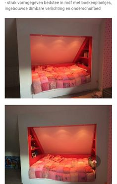 Bedstee Attic Bedrooms, Kids Bedroom, Attic Design, Interior Design, Bunker Bed, Studio Loft, Wall Nook, Loft Storage, Loft Room
