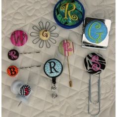Alphabets :: Mega Buttons to Cover Set - Embroidery Garden In the Hoop Machine Embroidery Designs