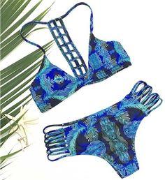 Cupshe Deep Water Printing Bikini Set