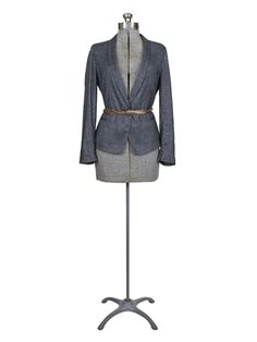 Pomandere - Leather Tie Blazer Black