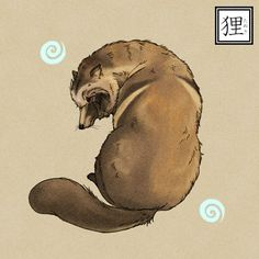 Often described competing with Kitsune (fox), Raccoon dogs also have the ability to change their forms to objects or other creatures.  Unlike fox though, raccoon dogs are often clumsy and cannot successfully fool people.
