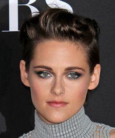 Kristen Stewart Hairstyle - Short Straight Casual - Dark Brunette