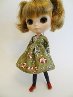 Dolly Holiday Dress 12 for Blythe Pure Neemo and by SewDoSomething, $26.50