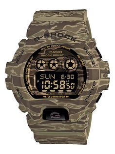 The 3D Camo Print Camouflage series (Reference GDX6900CM) is the first G-Shock watch of its type released by Casio. #GShock #Camouflage