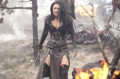 Legend of the Seeker - Kahlan Amnell.  One of the strongest women on television.