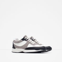 Image 2 of COMBINED MESH SNEAKERS from Zara
