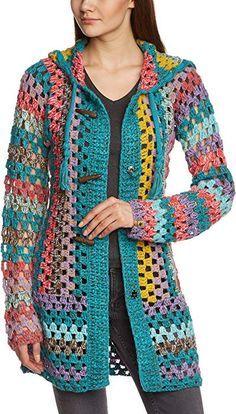 Fabulous Crochet a Little Black Crochet Dress Ideas. Georgeous Crochet a Little Black Crochet Dress Ideas. Black Crochet Dress, Crochet Jacket, Crochet Poncho, Crochet Cardigan, Beautiful Crochet, Crochet Clothes, Crochet Patterns, Knitting, Granny Square Poncho