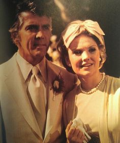 1974:  Joe and Vicki's wedding day (Lee Patterson and Erika Slezak) #OneLifeToLive #anniversary #OLTL #TV
