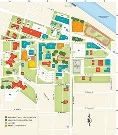 Uofm Campus Map.Uofm Campus Map Campus Maps Pinterest
