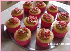 Coconut and caramel lactose free cupcake