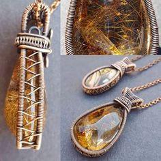 Home - Wire Moon Jewelry Bijoux Wire Wrap, Wire Wrapped Necklace, Bijoux Diy, Wire Wrapped Pendant, Macrame Necklace, Wire Earrings, Moon Jewelry, Copper Jewelry, Copper Necklace