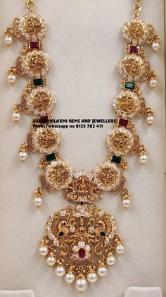 Long harams new designs added every day. Visit us for best designs at most competitive prices Phone no 8125 782 411 Gold Earrings Designs, Gold Jewellery Design, Necklace Designs, Latest Necklace Design, Diamond Jewellery, Gold Wedding Jewelry, Gold Jewelry Simple, Indian Jewelry Sets, India Jewelry