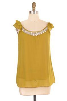Bellaritta Green Embellished Blouse Size S | ClosetDash #vintage #fashion #style #blouse