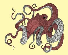 Octopus art print by Amanda James