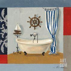 Nautical Bath II Art Print by Silvia Vassileva at Art.com