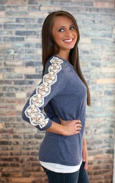 The Pink Lily Boutique - All About That Lace Blouse, $36.00 (http://thepinklilyboutique.com/all-about-that-lace-blouse/)