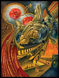 Surrealism and Visionary art by Alex Fishgoyt Vladimir Kush, Rene Magritte, Surreal Artwork, Surrealism Painting, Visionary Art, Fantastic Art, Psychedelic Art, Artist Art, New Art