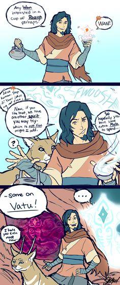 Avatar Wan making puns. Lol.