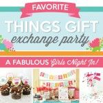 The perfect guide to hosting a Favorite Things Party! The Favorite Things Gift Exchange Pack includes a host guide, decorations, games, favors & more! Fun Bridal Shower Games, Printable Bridal Shower Games, Cookie Exchange Party, Gift Exchange, Dating Divas, Five Senses Gift, Favorite Things Party, Holiday Party Games, Party Themes