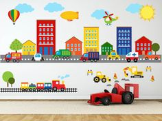 Construction Wall Decal Truck Wall Decal by YendoPrint on Etsy