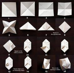DIY: Des cubes en papier pour une lumière toute douce.