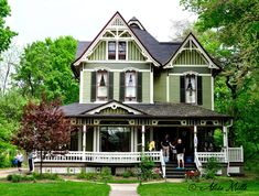 Victorian Houses - maybe some different paint colors but gorgeous anway