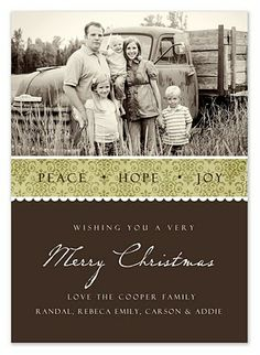 free templates to make your own Christmas photo cards from Simple as That.